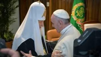 نخستین دیدار رهبران مذهبی کاتولیک و ارتدوکس بعد از هزار سال