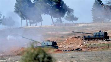 گلوله باران مناطق کردنشین سوریه بدست ارتش ترکیه