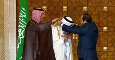 اهدای عالی ترین نشان مصر به پادشاه عربستان