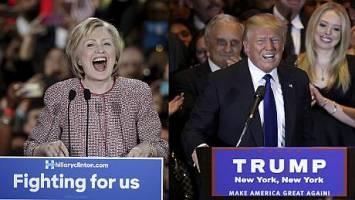 پیروزی ترامپ و کلینتون در انتخابات مقدماتی در نیویورک