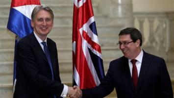 اولین سفر وزیر خارجه انگلیس پس از نیم قرن به کوبا
