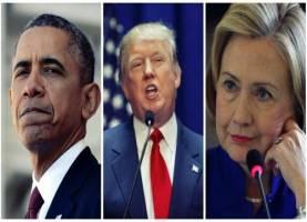 شوخی  های باراک اوباما با دونالد ترامپ و هیلاری کلینتون