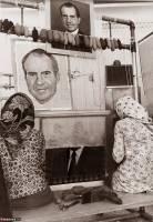 نقش ریچارد نیکسون بر دار قالی ایرانی
