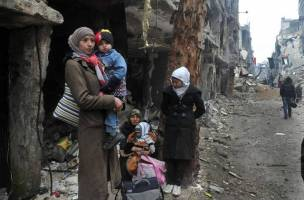 خزان طولانی زنان سوری