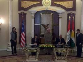 امضای نخستین پروتکل رسمی همکاری نظامی بین آمریکا و حکومت اقلیم کردستان عراق