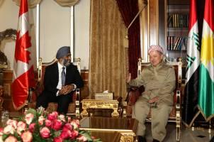 دیدار وزیر دفاع کانادا با مسعود بارزانی