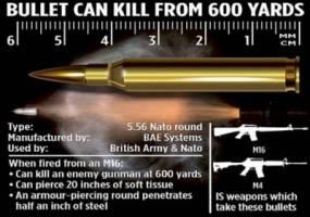 87 هزار فشنگ انگلیسی در دست داعش!