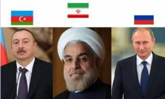 دیدار روحانی، پوتین و الهام علی اف در باکو