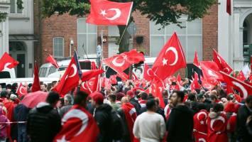 تظاهرات هواداران اردوغان در آلمان