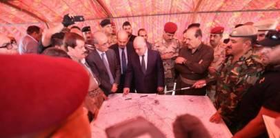 تدارک حمله به داعش در سنگر پیشمرگ های کرد، با حضور حیدر العبادی و نجم الدین کریم