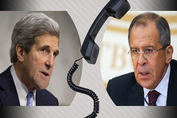 گفتگوی تلفنی لاوروف و کری درباره سوریه
