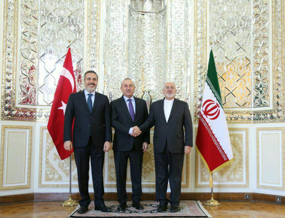 دیدار وزرای خارجه و امنیت ترکیه با محمد جواد ظریف