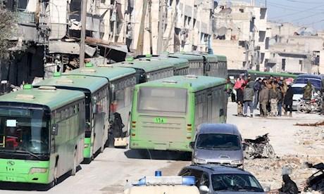 آتش زدن اتوبوس های فوعه و کفریا توسط جبهه النصره
