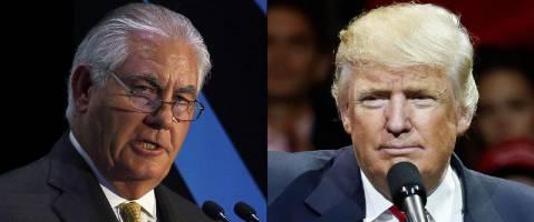 دفاع ترامپ از انتخاب تیلرسون برای وزارت خارجه