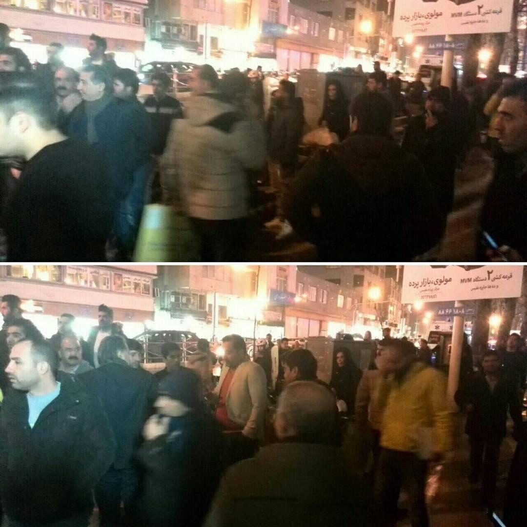 تصاویر از تجمع مردم  پس از شنیدن خبر درگذشت آیت الله هاشمی