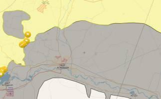 محاصره هلالی داعش در رقه