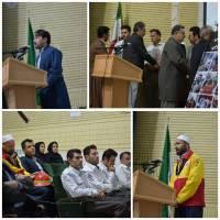 برگزاری مراسم گرامیداشت شهدای آتش نشان در شهر جوانرود