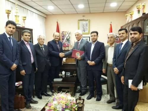 امضای تفاهم نامه همکاری میان دانشگاههای صلاح الدین اربیل و زنجان
