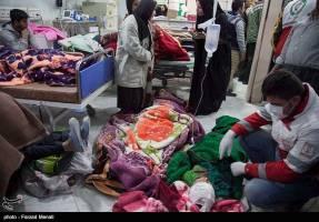 مصدومان و آسیب دیدگان زلزله در سرپل ذهاب