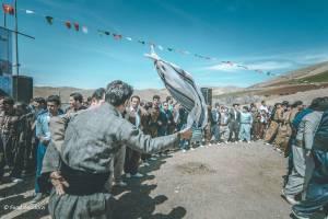 برپایی آیین نوروزی در روستای شاینی کامیاران
