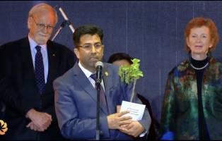 جایزه آورورا برای بیداری بشریت به یک کُرد ایزدی تعلق گرفت