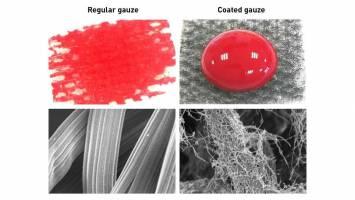 ساخت بانداژهای بندآورنده خون بدون چسبیدن به زخم