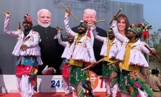 اهداف هند از استقبال پرزرق و برق و بالیوودی از ترامپ!
