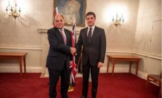 بارزانی خطاب به وزیر دفاع انگلیس: هنوز داعش یک خطر بزرگ برای عراق است
